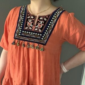 Boutique brand embroidered top